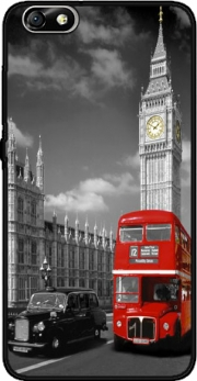 Red bus of London with Big Ben Case for Huawei Honor 4x