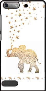 Gatsby Gold Glitter Elephant Case for Huawei Ascend P6 Mini