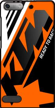 KTM Racing Orange And Black Case for Huawei Ascend P6 Mini