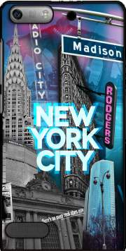 New York City II [blue] Case for Huawei Ascend P6 Mini