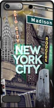 New York City II [green] Case for Huawei Ascend P6 Mini