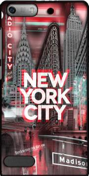 New York City II [red] Case for Huawei Ascend P6 Mini