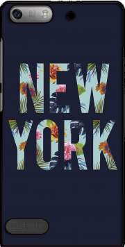 New York Floral Case for Huawei Ascend P6 Mini