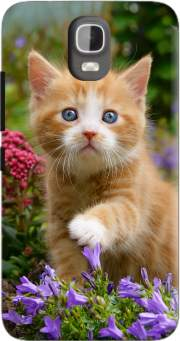Cute ginger kitten in a flowery garden, lovely and enchanting cat Case for Huawei Y3 Y360