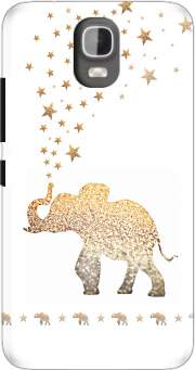 Gatsby Gold Glitter Elephant Case for Huawei Y3 Y360
