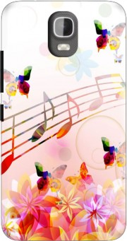 Musical Notes Butterflies Case for Huawei Y3 Y360