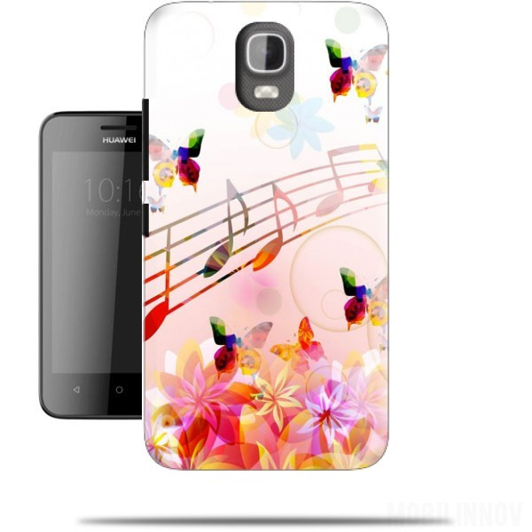 Case Musical Notes Butterflies for Huawei Y3 Y360