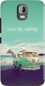 Never Stop Exploring - Lamas on Holidays Case for Huawei Y3 Y360