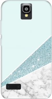 Initiale Marble and Glitter Blue Huawei Y5 Y560 Case