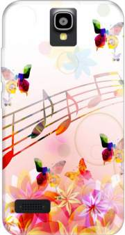 Musical Notes Butterflies Case for Huawei Y5 Y560