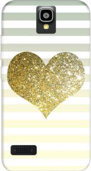 Sunny Gold Glitter Heart Case for Huawei Y5 Y560