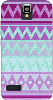 Tribal Chevron in pink and mint glitter Case for Huawei Y5 Y560