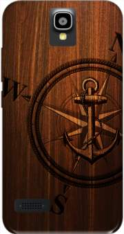 Wooden Anchor Case for Huawei Y5 Y560