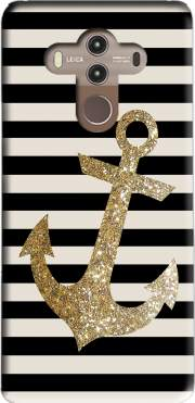 gold glitter anchor in black Case for Huawei Mate 10 Pro