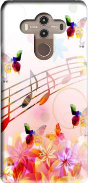 Musical Notes Butterflies Case for Huawei Mate 10 Pro