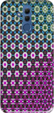 Abstract bright floral geometric pattern teal pink white Case for Huawei Mate 20 Lite