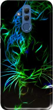 Abstract neon Leopard Case for Huawei Mate 20 Lite
