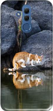 Cat Reflection in Pond Water Case for Huawei Mate 20 Lite