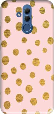 Golden Dots And Pink Case for Huawei Mate 20 Lite