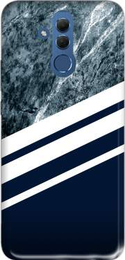 Marble Navy Case for Huawei Mate 20 Lite