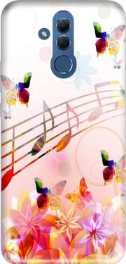 Musical Notes Butterflies Case for Huawei Mate 20 Lite