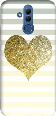 Sunny Gold Glitter Heart Case for Huawei Mate 20 Lite