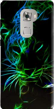 Abstract neon Leopard Case for Huawei Mate S