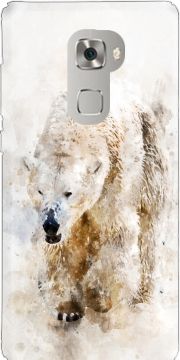 Abstract watercolor polar bear Huawei Mate S Case
