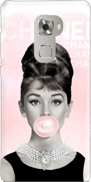 Audrey Hepburn bubblegum Case for Huawei Mate S