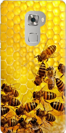 Case Bee in honey hive for Huawei Mate S