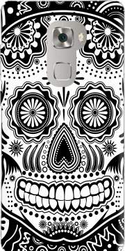 black and white sugar skull Case for Huawei Mate S