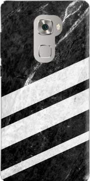 Black Striped Marble Huawei Mate S Case