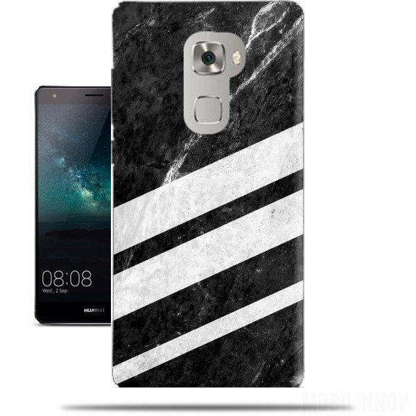 Case Black Striped Marble for Huawei Mate S
