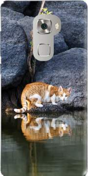 Cat Reflection in Pond Water Huawei Mate S Case