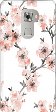 Cherry Blossom Aquarel Flower Huawei Mate S Case