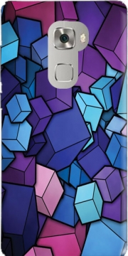Blue Cube Case for Huawei Mate S