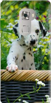 Cute Dalmatian puppy in a basket  Case for Huawei Mate S
