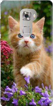 Cute ginger kitten in a flowery garden, lovely and enchanting cat Case for Huawei Mate S