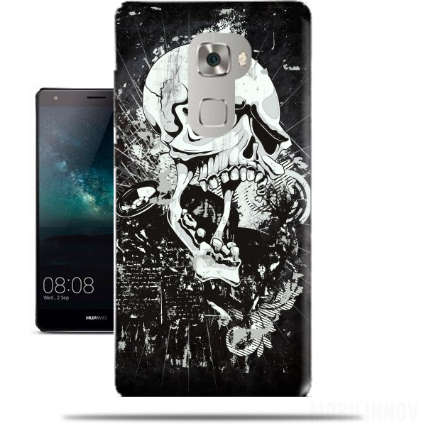 Case Dark Gothic Skull for Huawei Mate S