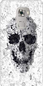 Doodle Skull Case for Huawei Mate S