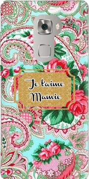 Floral Old Tissue - Je t'aime Mamie Huawei Mate S Case