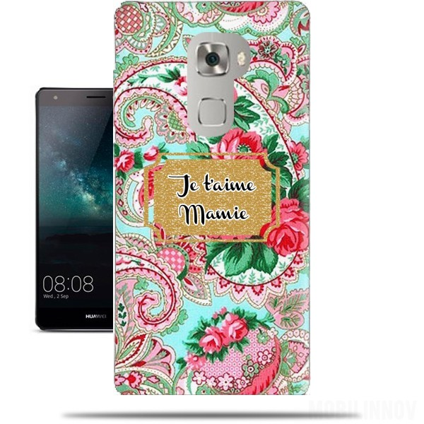 Case Floral Old Tissue - Je t'aime Mamie for Huawei Mate S