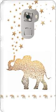 Gatsby Gold Glitter Elephant Case for Huawei Mate S