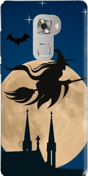 Halloween Moon Background Witch Huawei Mate S Case