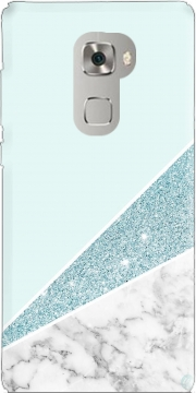 Initiale Marble and Glitter Blue Huawei Mate S Case