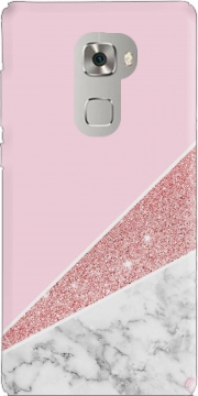 Initiale Marble and Glitter Pink Huawei Mate S Case