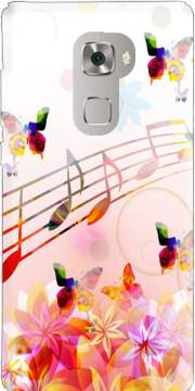 Musical Notes Butterflies Case for Huawei Mate S