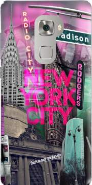 New York City II [pink] Case for Huawei Mate S