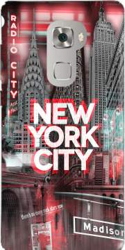 New York City II [red] Case for Huawei Mate S