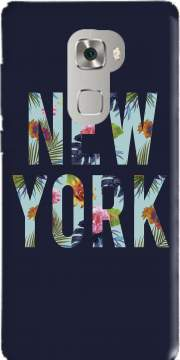 New York Floral Case for Huawei Mate S